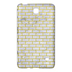 Brick1 White Marble & Yellow Leather (r) Samsung Galaxy Tab 4 (8 ) Hardshell Case  by trendistuff