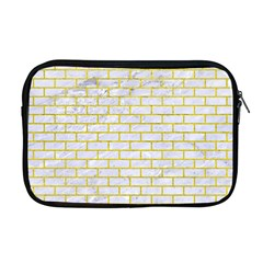 Brick1 White Marble & Yellow Leather (r) Apple Macbook Pro 17  Zipper Case by trendistuff