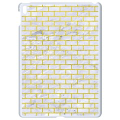 Brick1 White Marble & Yellow Leather (r) Apple Ipad Pro 9 7   White Seamless Case by trendistuff
