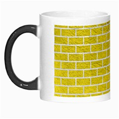Brick1 White Marble & Yellow Leather Morph Mugs by trendistuff