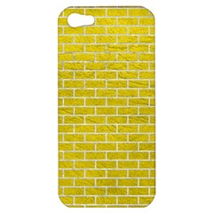 Brick1 White Marble & Yellow Leather Apple Iphone 5 Hardshell Case by trendistuff