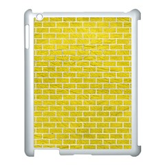 Brick1 White Marble & Yellow Leather Apple Ipad 3/4 Case (white) by trendistuff