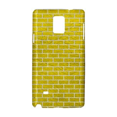 Brick1 White Marble & Yellow Leather Samsung Galaxy Note 4 Hardshell Case by trendistuff