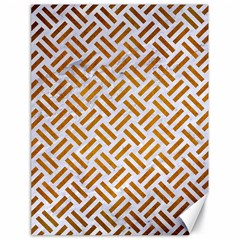 Woven2 White Marble & Yellow Grunge (r) Canvas 18  X 24   by trendistuff