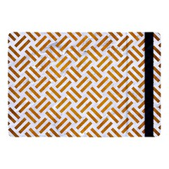 Woven2 White Marble & Yellow Grunge (r) Apple Ipad Pro 10 5   Flip Case by trendistuff