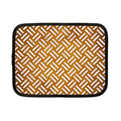 Woven2 White Marble & Yellow Grunge Netbook Case (small)  by trendistuff