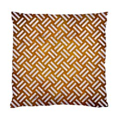 Woven2 White Marble & Yellow Grunge Standard Cushion Case (two Sides) by trendistuff