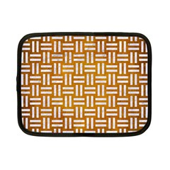 Woven1 White Marble & Yellow Grunge Netbook Case (small)  by trendistuff