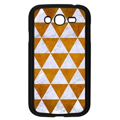 Triangle3 White Marble & Yellow Grunge Samsung Galaxy Grand Duos I9082 Case (black) by trendistuff