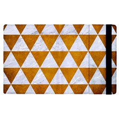Triangle3 White Marble & Yellow Grunge Apple Ipad Pro 12 9   Flip Case by trendistuff