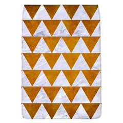 Triangle2 White Marble & Yellow Grunge Flap Covers (l)  by trendistuff