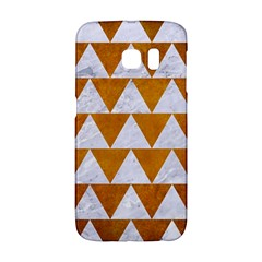 Triangle2 White Marble & Yellow Grunge Galaxy S6 Edge by trendistuff