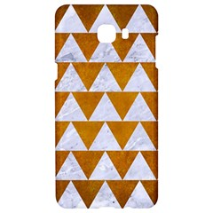 Triangle2 White Marble & Yellow Grunge Samsung C9 Pro Hardshell Case  by trendistuff