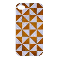 Triangle1 White Marble & Yellow Grunge Apple Iphone 4/4s Hardshell Case by trendistuff
