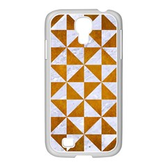 Triangle1 White Marble & Yellow Grunge Samsung Galaxy S4 I9500/ I9505 Case (white) by trendistuff