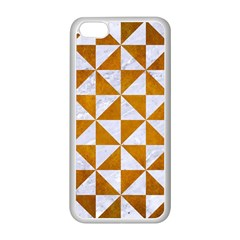 Triangle1 White Marble & Yellow Grunge Apple Iphone 5c Seamless Case (white) by trendistuff
