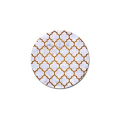 Tile1 White Marble & Yellow Grunge (r) Golf Ball Marker (10 Pack) by trendistuff