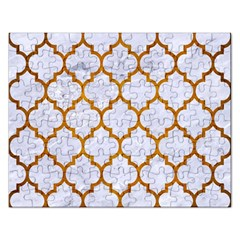 Tile1 White Marble & Yellow Grunge (r) Rectangular Jigsaw Puzzl by trendistuff