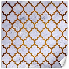 Tile1 White Marble & Yellow Grunge (r) Canvas 20  X 20   by trendistuff