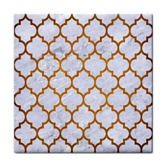 Tile1 White Marble & Yellow Grunge (r) Face Towel by trendistuff