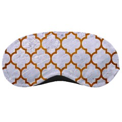 Tile1 White Marble & Yellow Grunge (r) Sleeping Masks by trendistuff