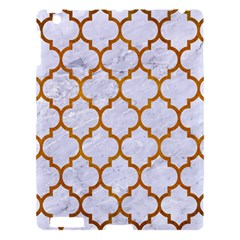 Tile1 White Marble & Yellow Grunge (r) Apple Ipad 3/4 Hardshell Case by trendistuff