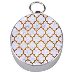 Tile1 White Marble & Yellow Grunge (r) Silver Compasses by trendistuff