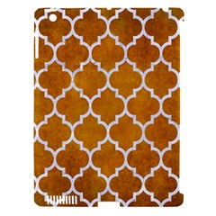 Tile1 White Marble & Yellow Grunge Apple Ipad 3/4 Hardshell Case (compatible With Smart Cover) by trendistuff