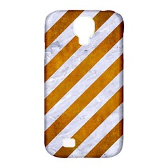 Stripes3 White Marble & Yellow Grunge (r) Samsung Galaxy S4 Classic Hardshell Case (pc+silicone) by trendistuff