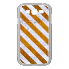 Stripes3 White Marble & Yellow Grunge Samsung Galaxy Grand Duos I9082 Case (white) by trendistuff