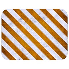 Stripes3 White Marble & Yellow Grunge Full Print Lunch Bag by trendistuff