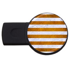 Stripes2white Marble & Yellow Grunge Usb Flash Drive Round (2 Gb)