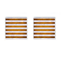 Stripes2white Marble & Yellow Grunge Cufflinks (square) by trendistuff