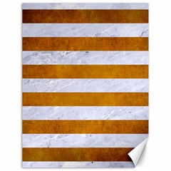 Stripes2white Marble & Yellow Grunge Canvas 18  X 24   by trendistuff