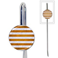 Stripes2white Marble & Yellow Grunge Book Mark by trendistuff