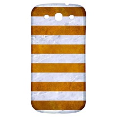 Stripes2white Marble & Yellow Grunge Samsung Galaxy S3 S Iii Classic Hardshell Back Case by trendistuff