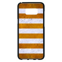 Stripes2white Marble & Yellow Grunge Samsung Galaxy S8 Plus Black Seamless Case by trendistuff