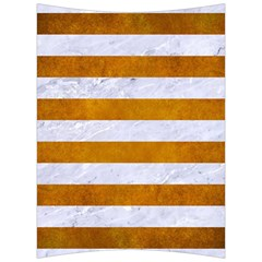 Stripes2white Marble & Yellow Grunge Back Support Cushion by trendistuff