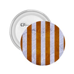 Stripes1 White Marble & Yellow Grunge 2 25  Buttons by trendistuff