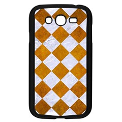 Square2 White Marble & Yellow Grunge Samsung Galaxy Grand Duos I9082 Case (black) by trendistuff