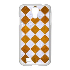 Square2 White Marble & Yellow Grunge Samsung Galaxy S4 I9500/ I9505 Case (white) by trendistuff