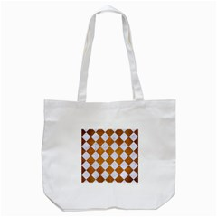 Square2 White Marble & Yellow Grunge Tote Bag (white) by trendistuff