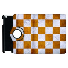 Square1 White Marble & Yellow Grunge Apple Ipad 3/4 Flip 360 Case by trendistuff