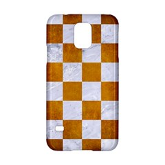 Square1 White Marble & Yellow Grunge Samsung Galaxy S5 Hardshell Case  by trendistuff