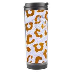 Skin5 White Marble & Yellow Grunge Travel Tumbler by trendistuff