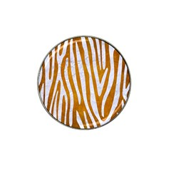 Skin4 White Marble & Yellow Grunge (r) Hat Clip Ball Marker (4 Pack) by trendistuff