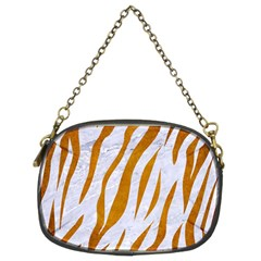 Skin3 White Marble & Yellow Grunge (r) Chain Purses (two Sides)  by trendistuff