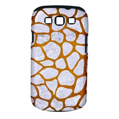 Skin1 White Marble & Yellow Grunge Samsung Galaxy S Iii Classic Hardshell Case (pc+silicone) by trendistuff