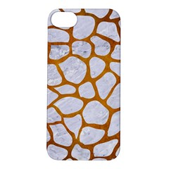 Skin1 White Marble & Yellow Grunge Apple Iphone 5s/ Se Hardshell Case by trendistuff