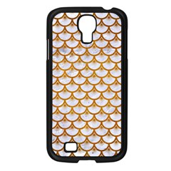 Scales3 White Marble & Yellow Grunge (r) Samsung Galaxy S4 I9500/ I9505 Case (black) by trendistuff